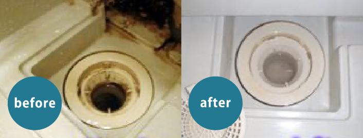 お風呂場クリーニング例画像